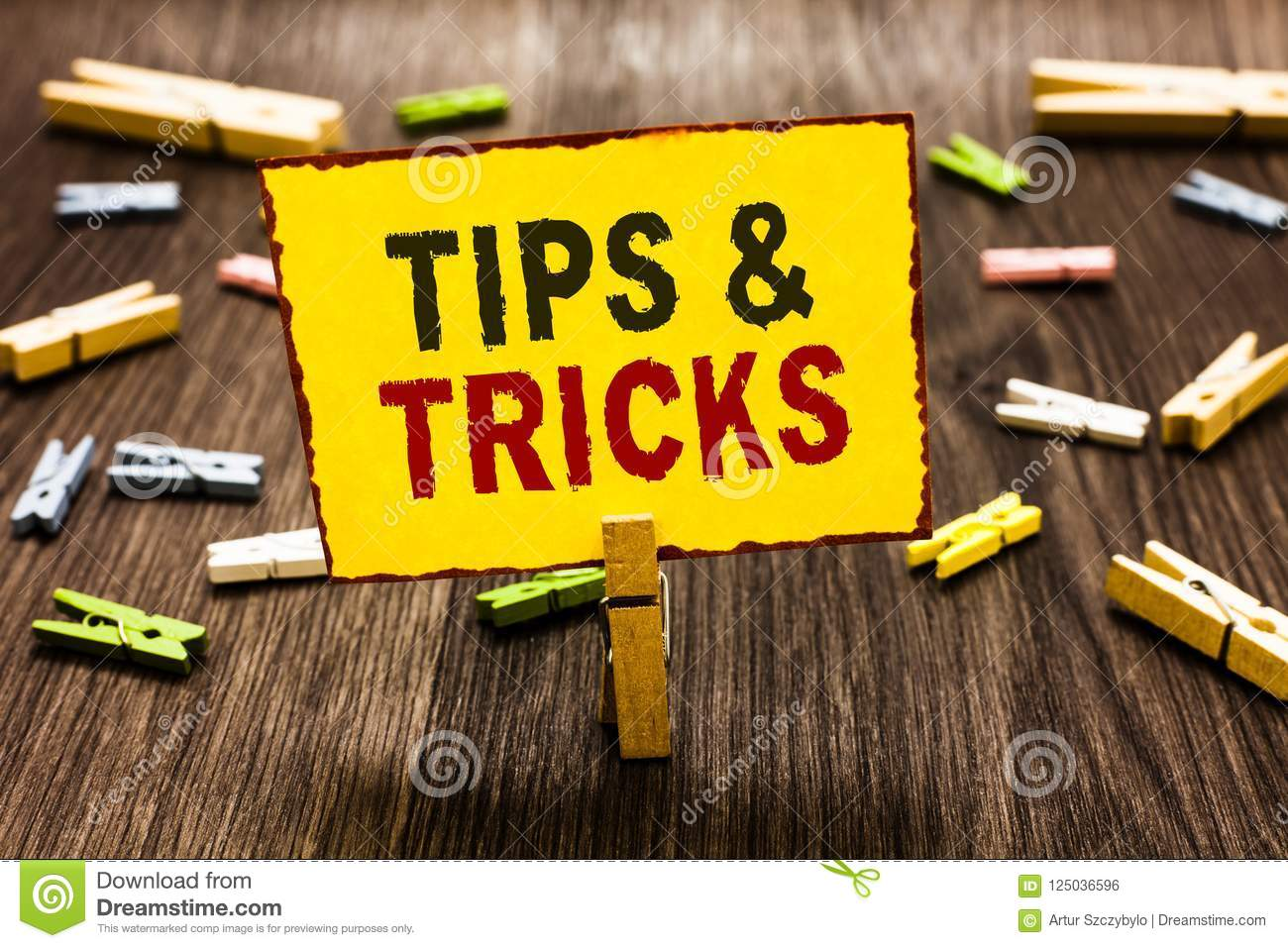 Handwriting text writing Tips and Tricks. Concept meaning Steps Lifehacks Handy advice Recommendations Skills Clothespin holding y