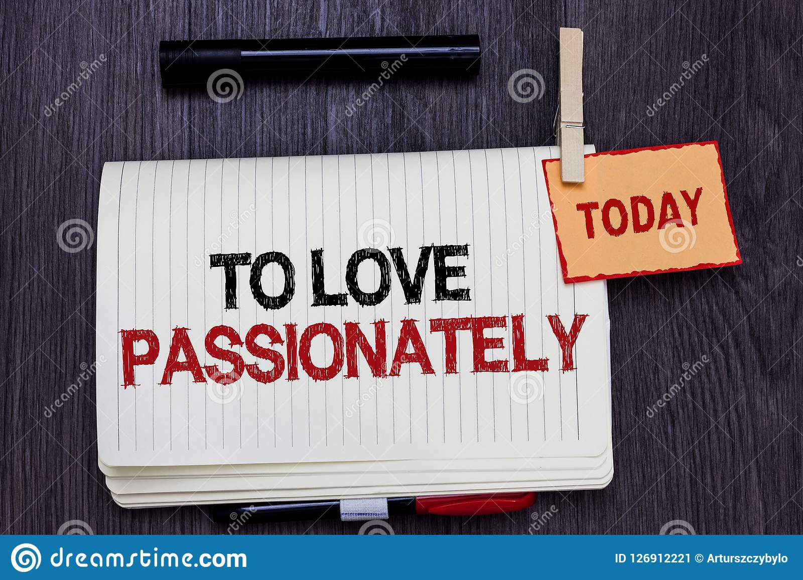 Handwriting Text Writing To Love Passionately  Concept