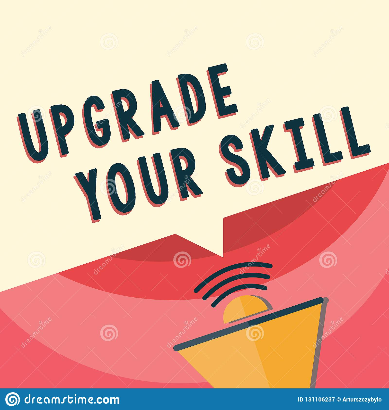 Handwriting Text Writing Upgrade Your Skill Concept Meaning Expand