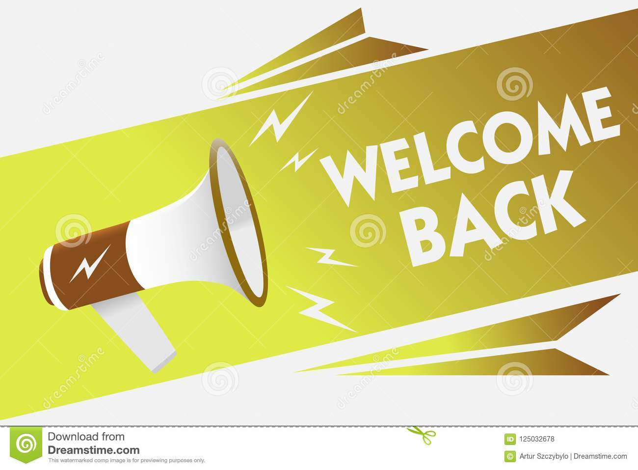 Handwriting Text Writing Welcome Back  Concept Meaning Warm
