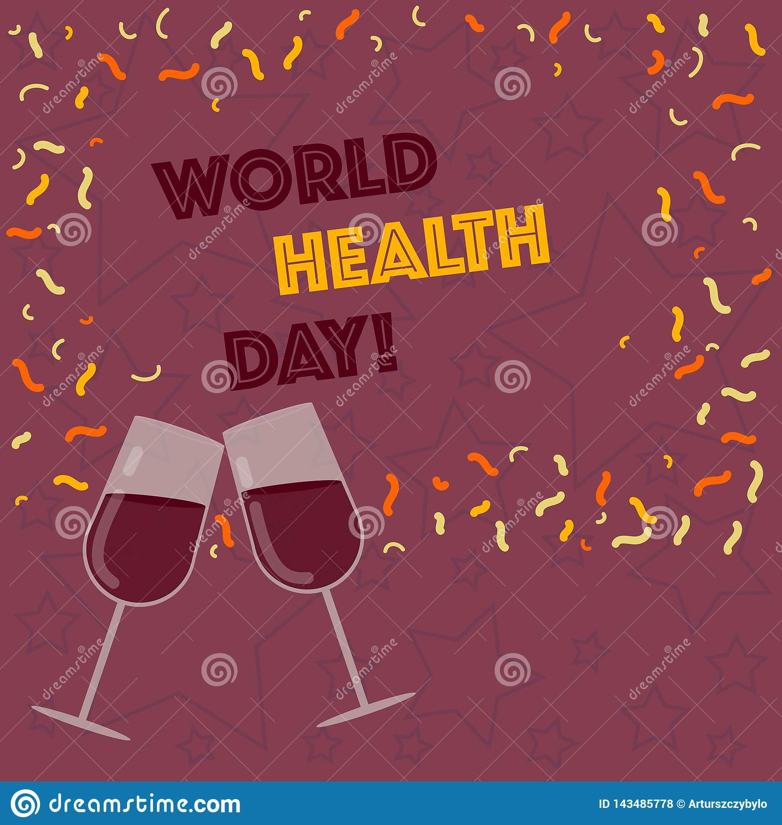 Handwriting Text Writing World Health Day. Concept Meaning ...