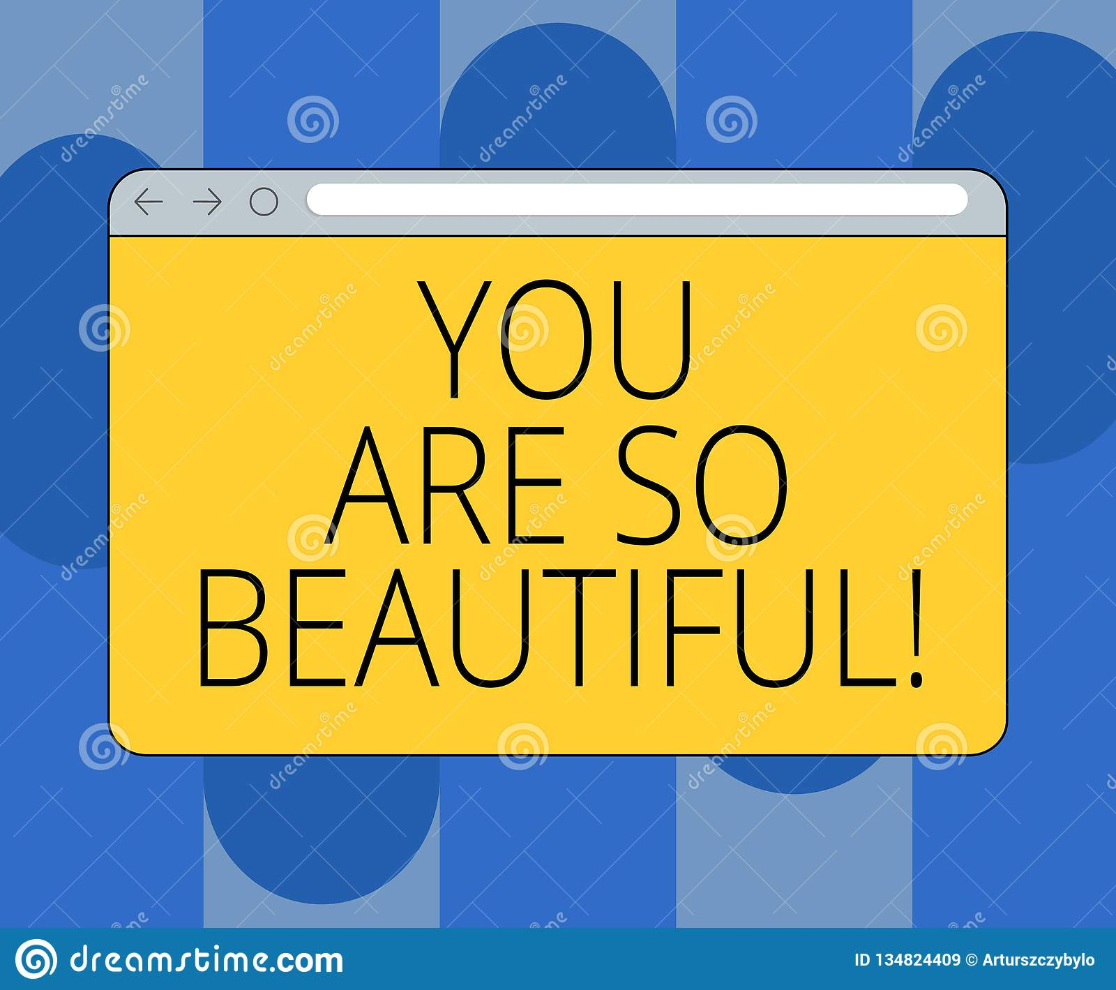 Handwriting Text You are so Beautiful. Concept Meaning Flirting ...