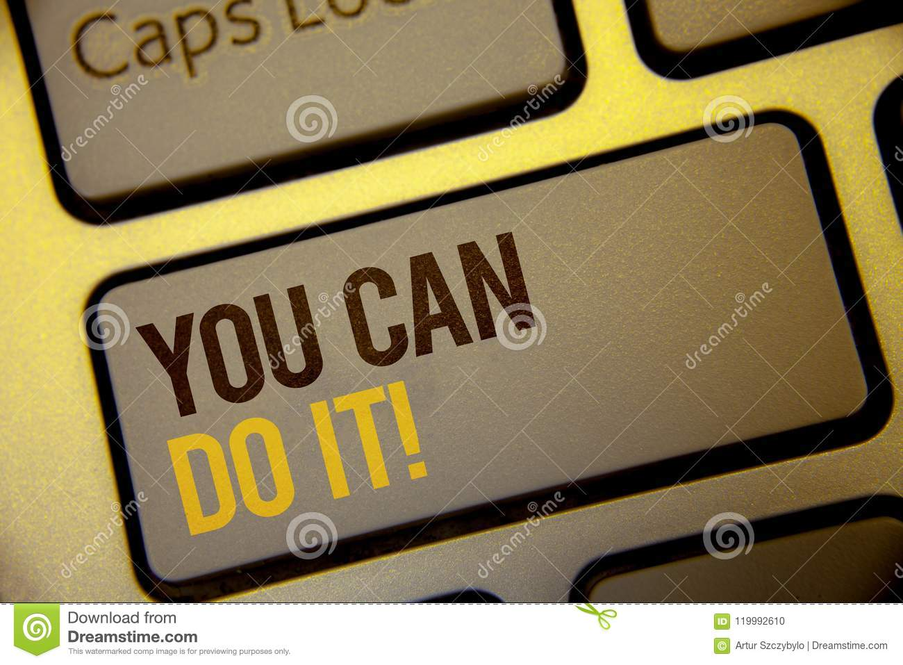 Handwriting text You Can Do It Motivational Call. Concept meaning Inspirational Message Motivational Positive Text two Words writt