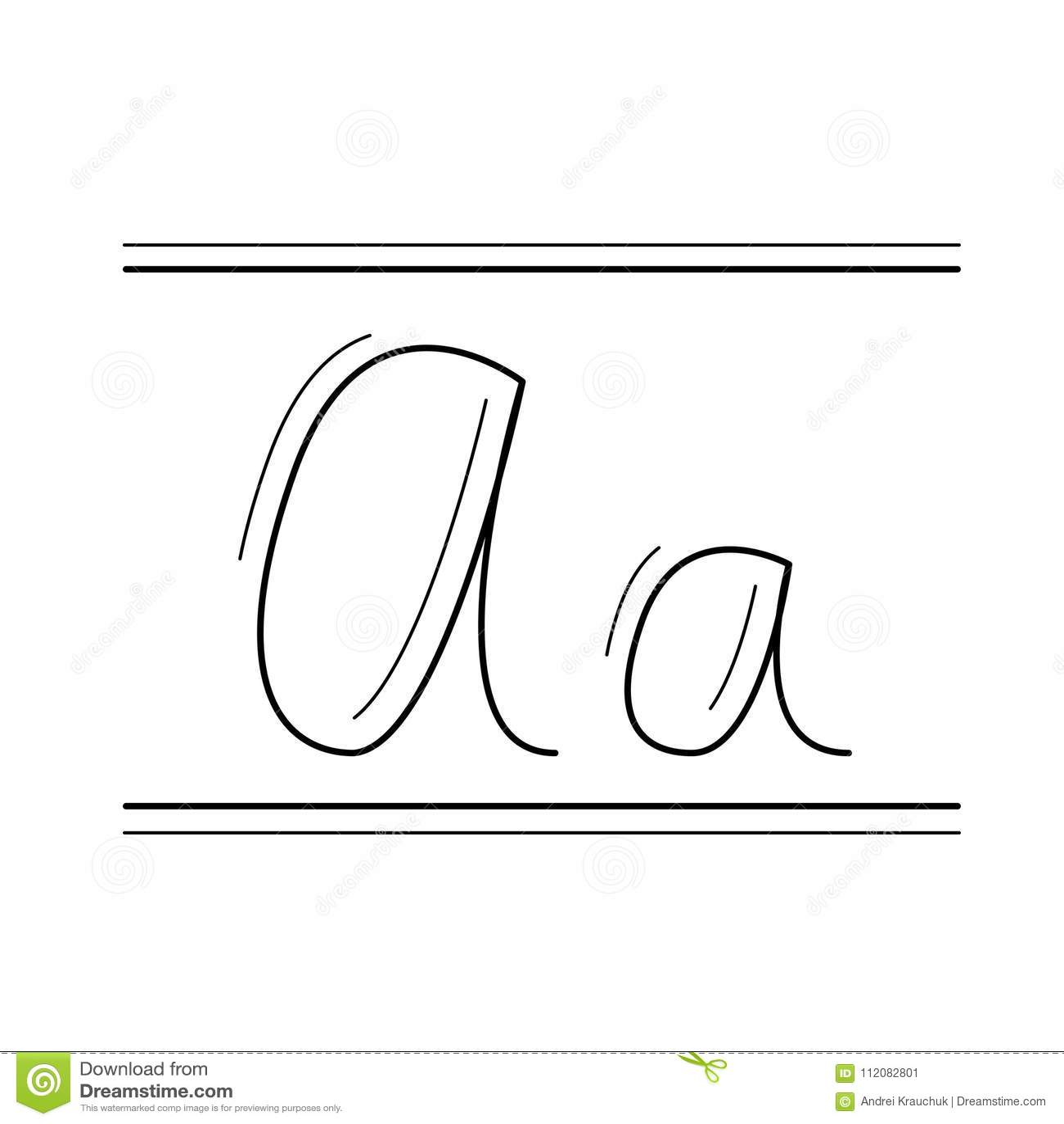handwriting vector line icon stock vector illustration