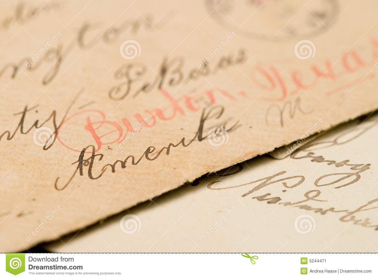 Handwritten Address On Envelope Stock Image Image Of Personal