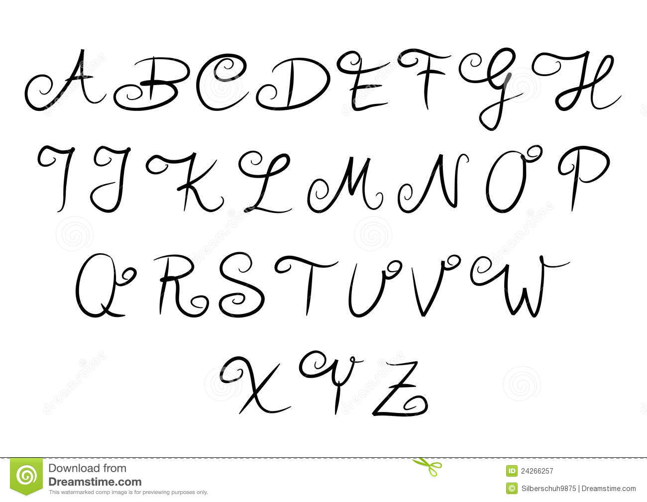 Letters of the Alphabet AZ to Print  Printable Alphabet