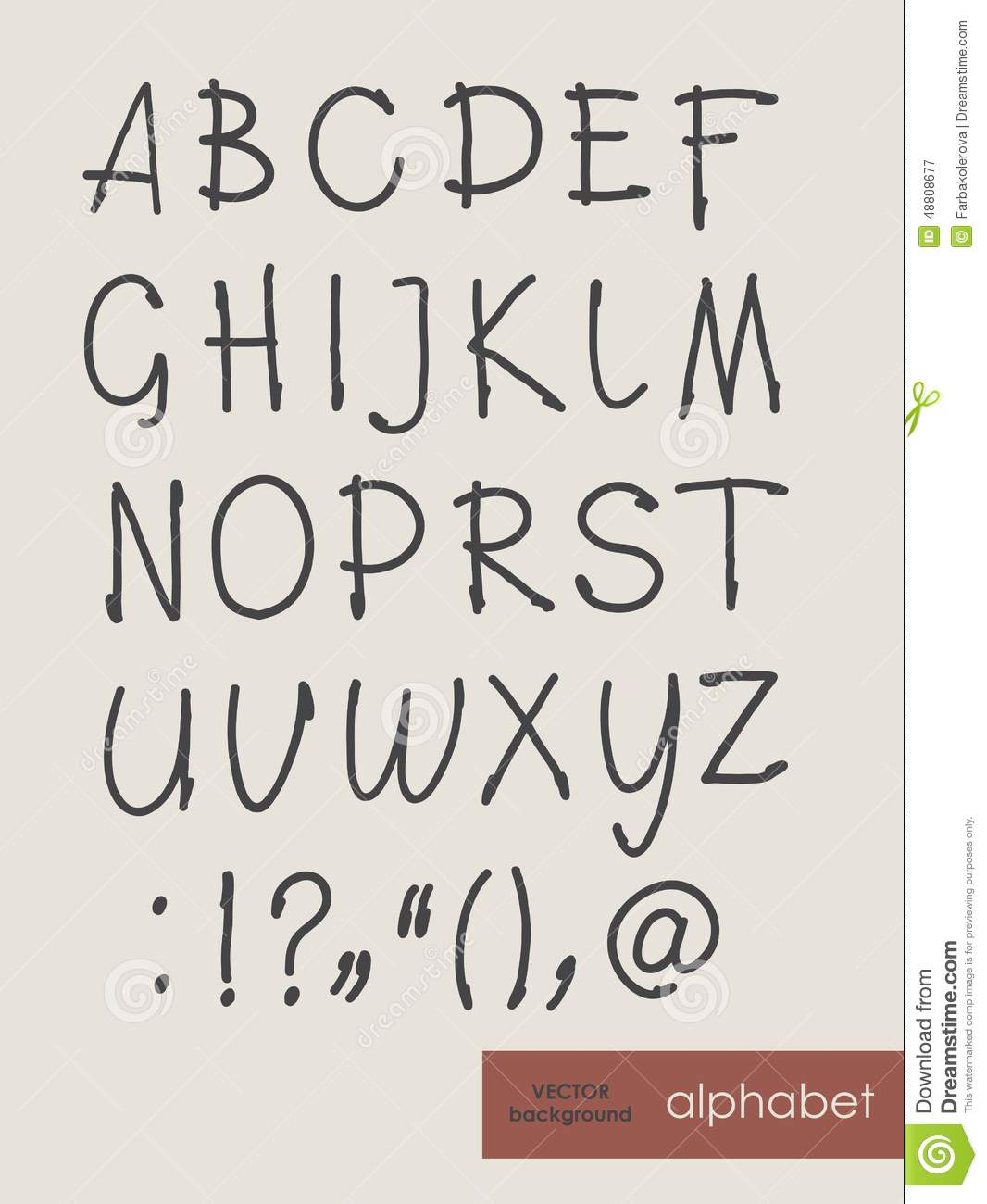 handwritten alphabet letters abc for your design