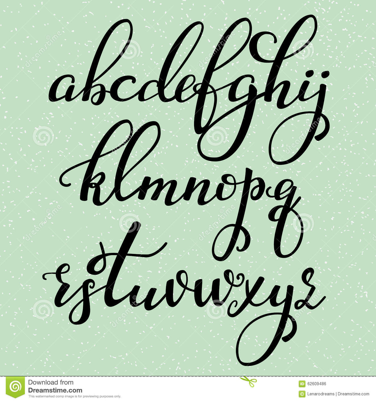 Modern Calligraphy Font Capital: Handwritten Calligraphy Flourish