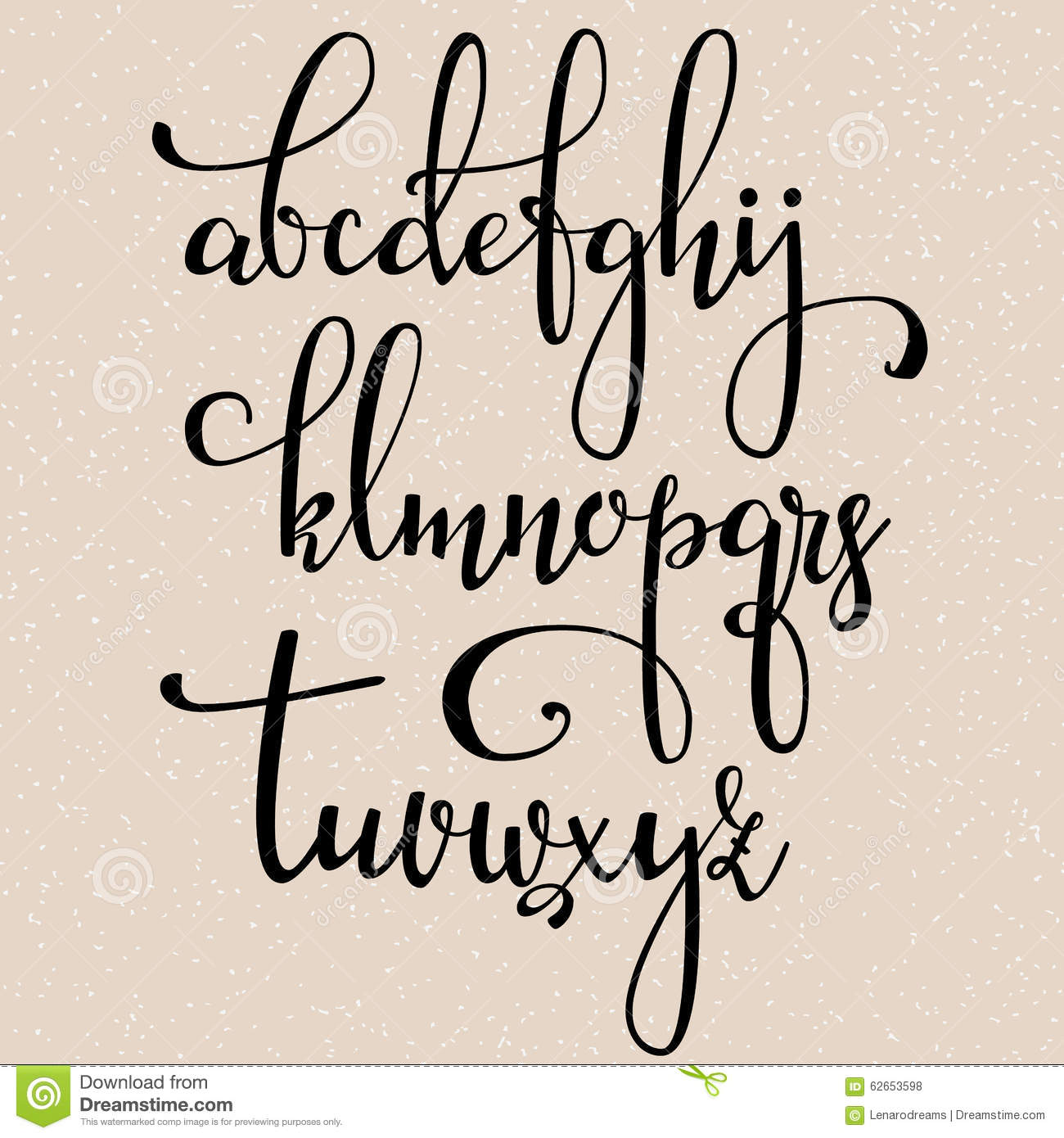 modern calligraphy cursive font with flourishes. Calligraphy alphabet ...