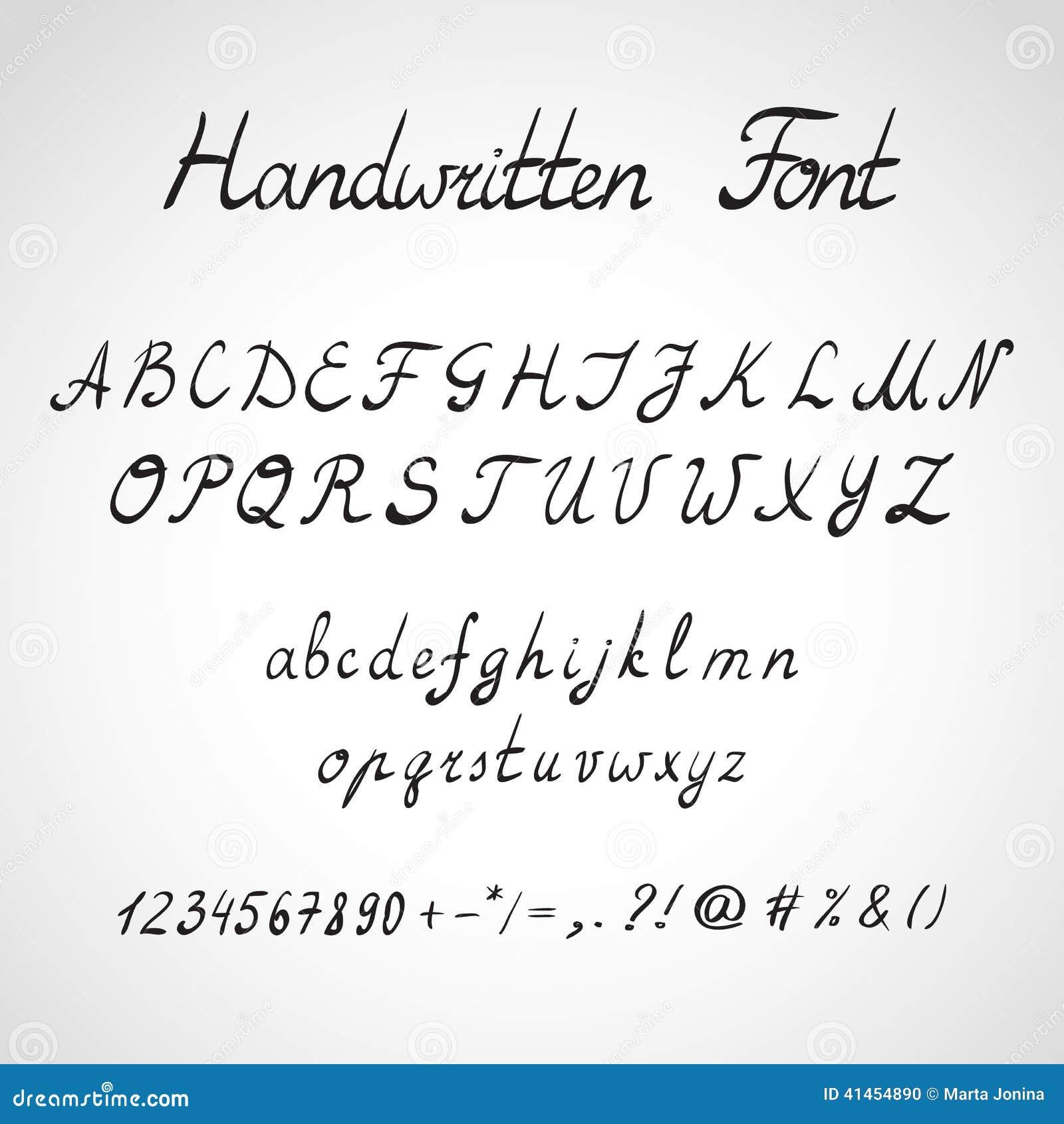 Handwritten Font Ink Style Stock Illustration Image