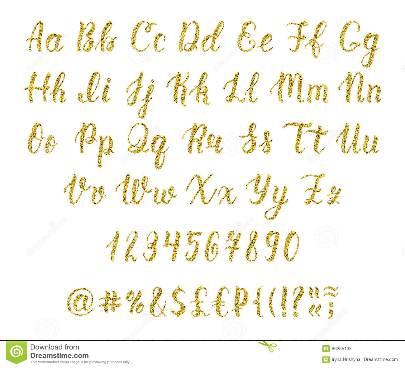 Handwritten latin calligraphy brush script with numbers and handwritten latin calligraphy brush script with numbers and punctuation marks gold glitter alphabet vector buycottarizona Choice Image