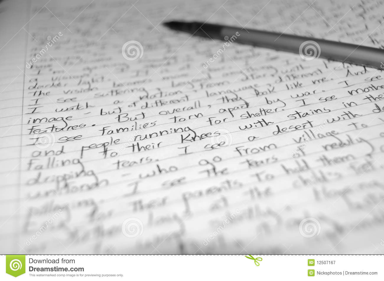 Handwritten letter stock image image of design governments handwritten letter madrichimfo Images