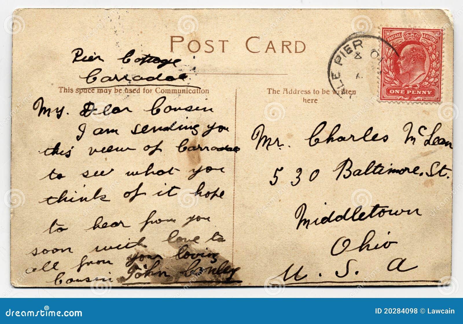 Italian handwritten postcard letter stock photo image 39254147 - Royalty Free Stock Photo