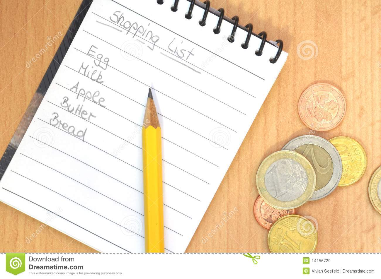 handwritten shopping list stock image. image of money - 14156729
