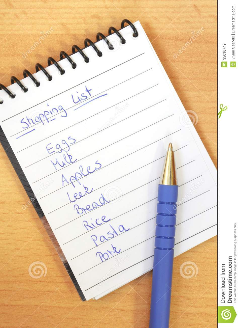 handwritten shopping list stock image. image of buying - 35016749