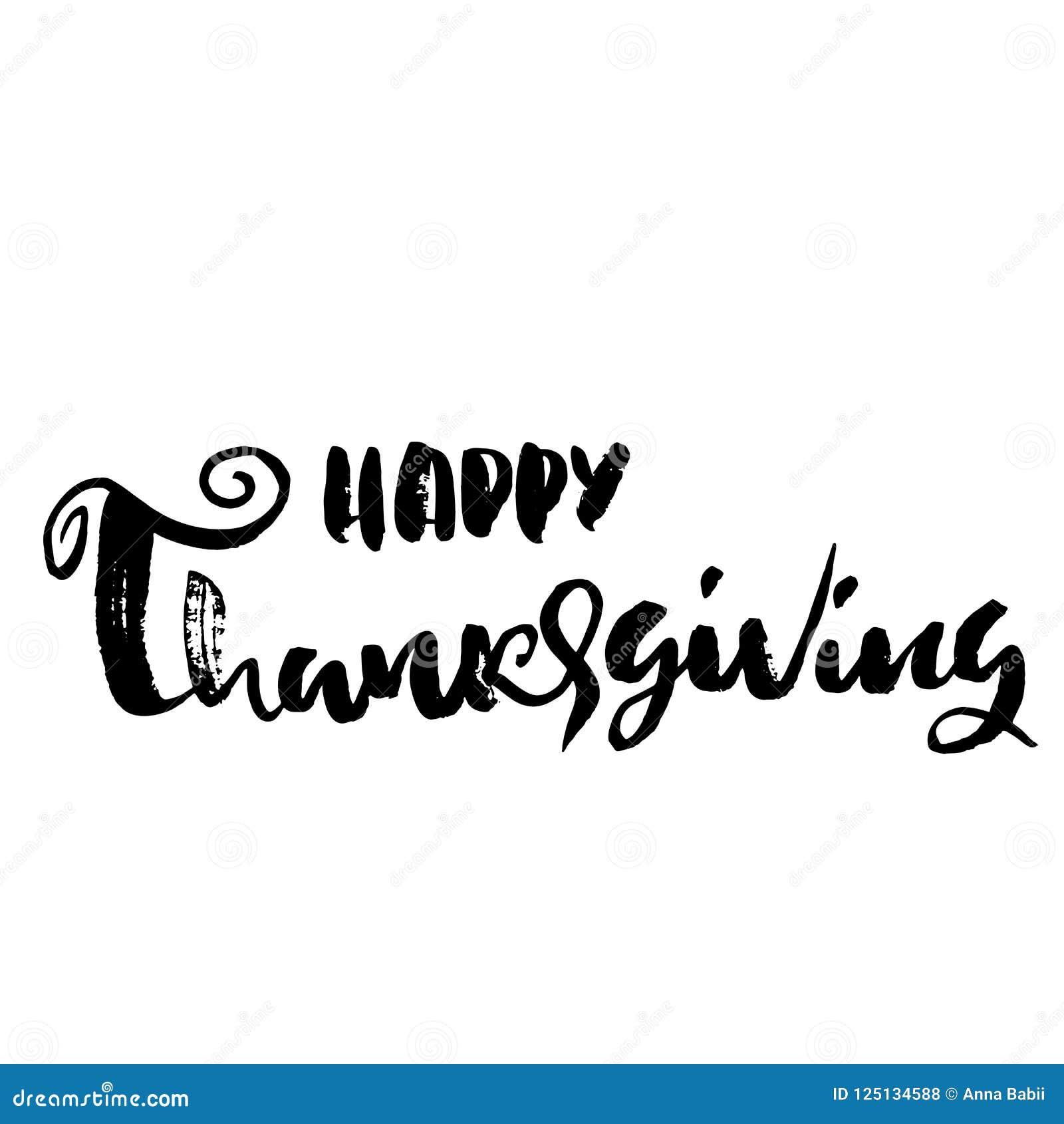 handwritten thanksgiving lettering happy thanksgiving card template