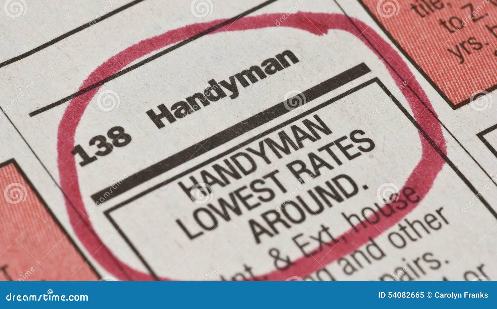 Handyman Ad Stock Photo - Image: 54082665