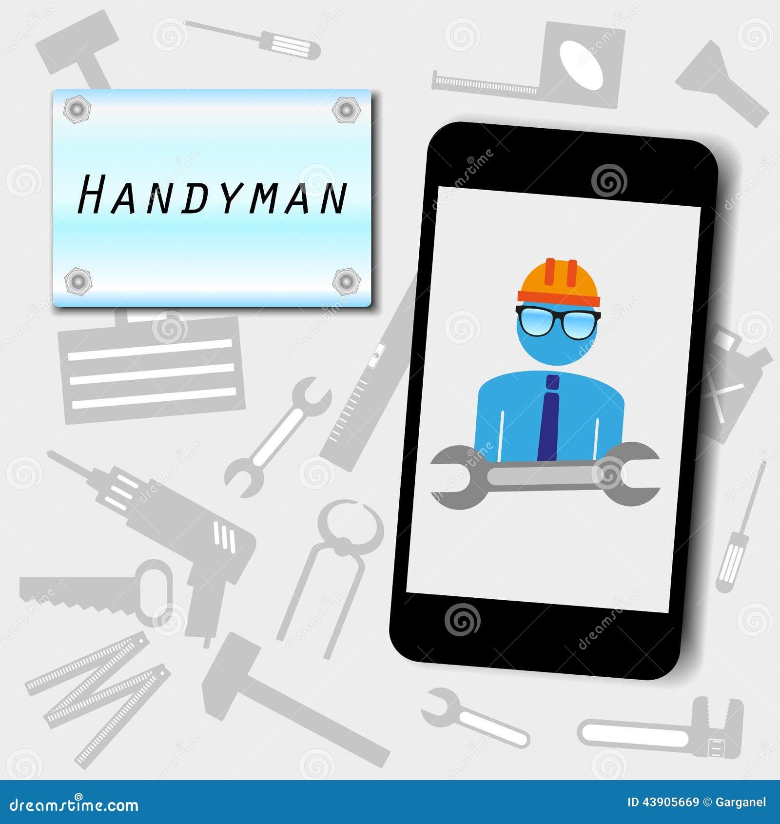 Handyman Advertising Background Stock Photo - Image: 43905669