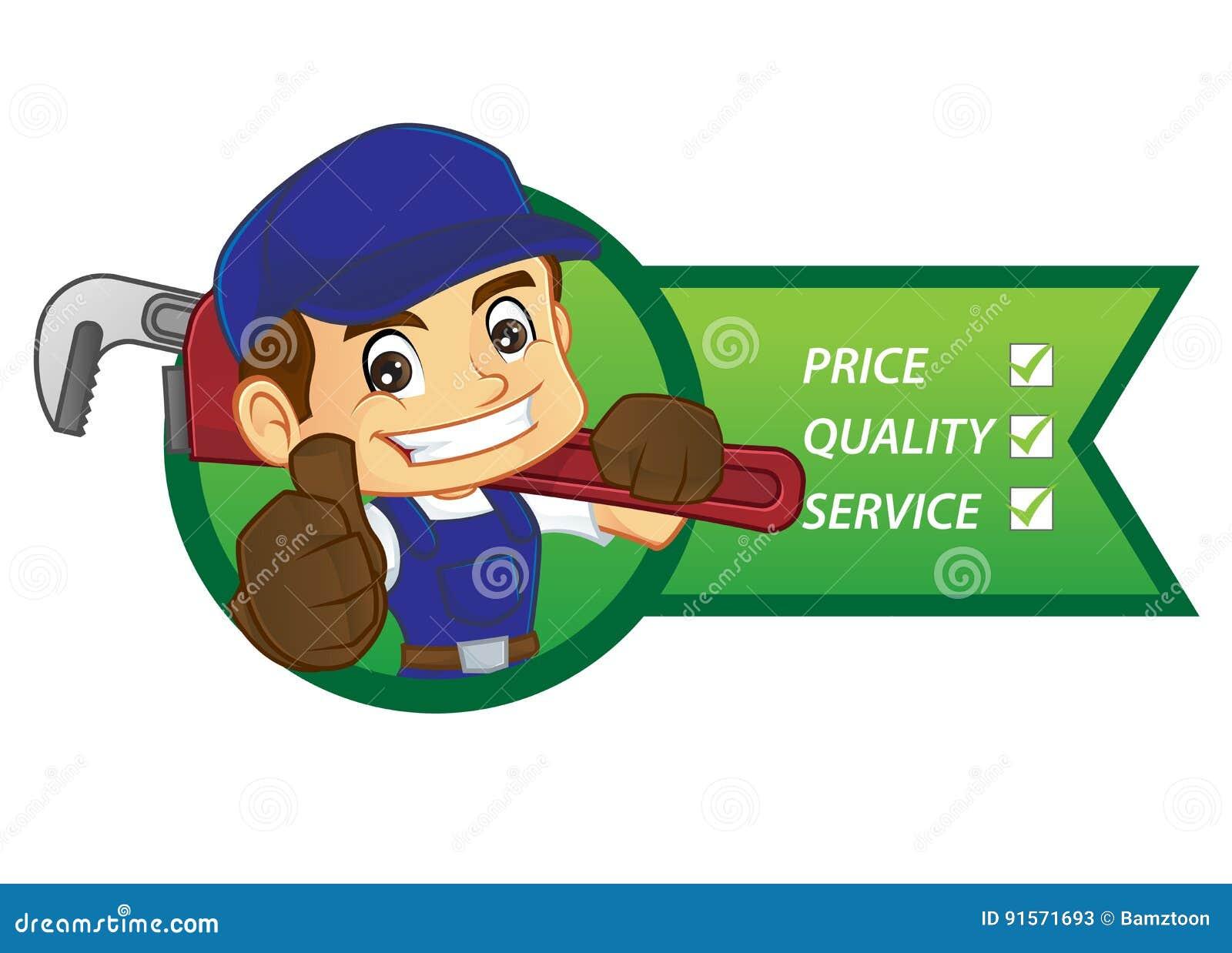 Free handyman price list - Handyman Inside Plumbing Service List Stock Vector