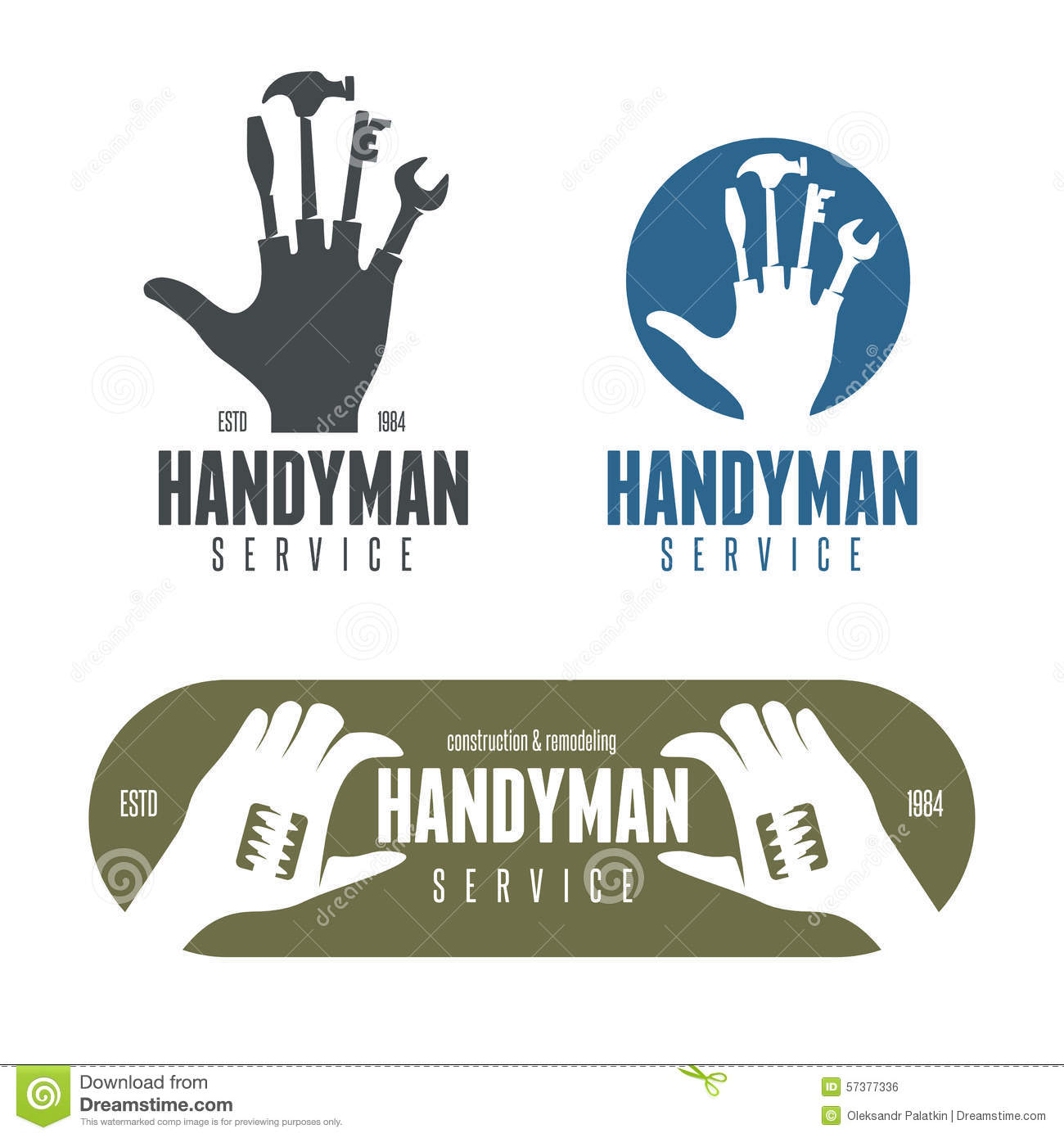 download handyman logos emblems badges in vintage style stock vector illustration of handyman