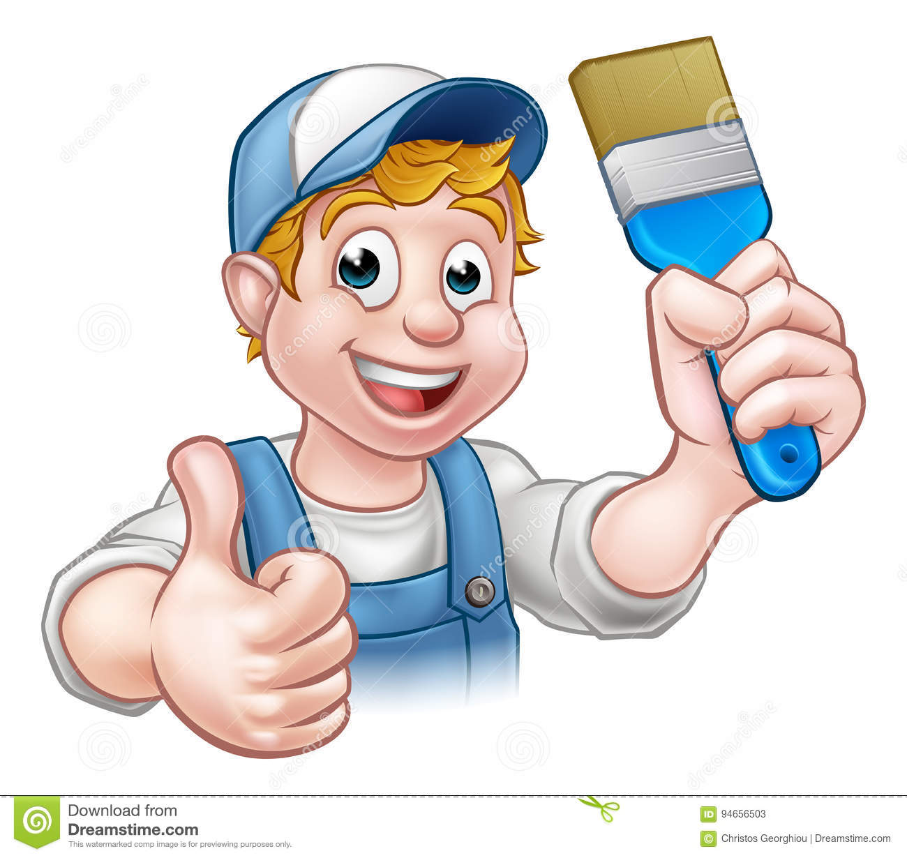 Painter Decorator Sign Stock Vector: Janitor Cartoons, Illustrations & Vector Stock Images