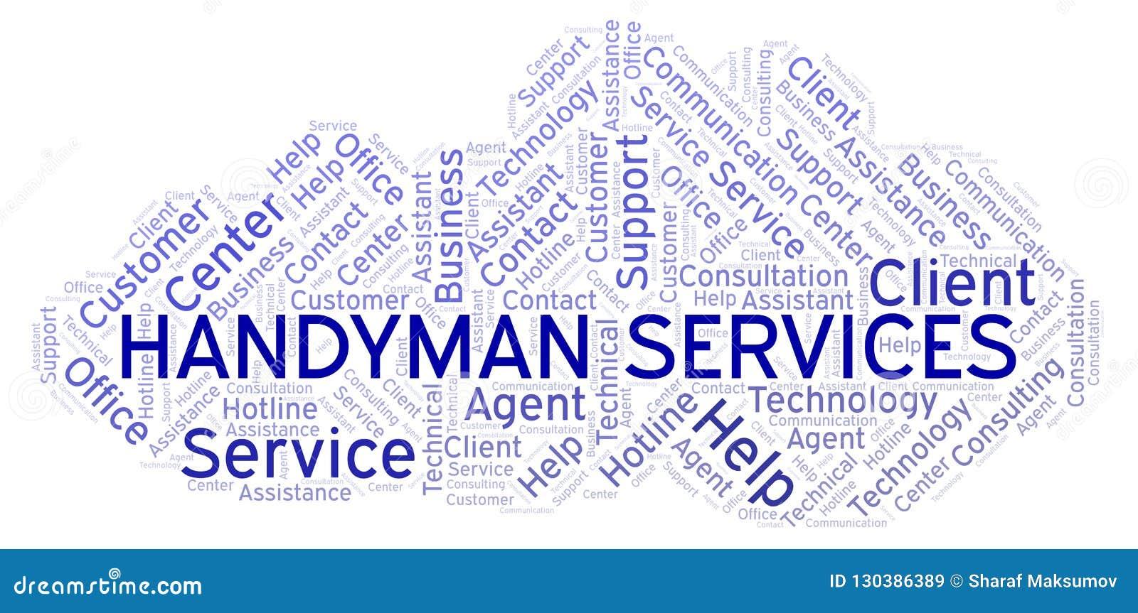 Handyman Services word cloud.