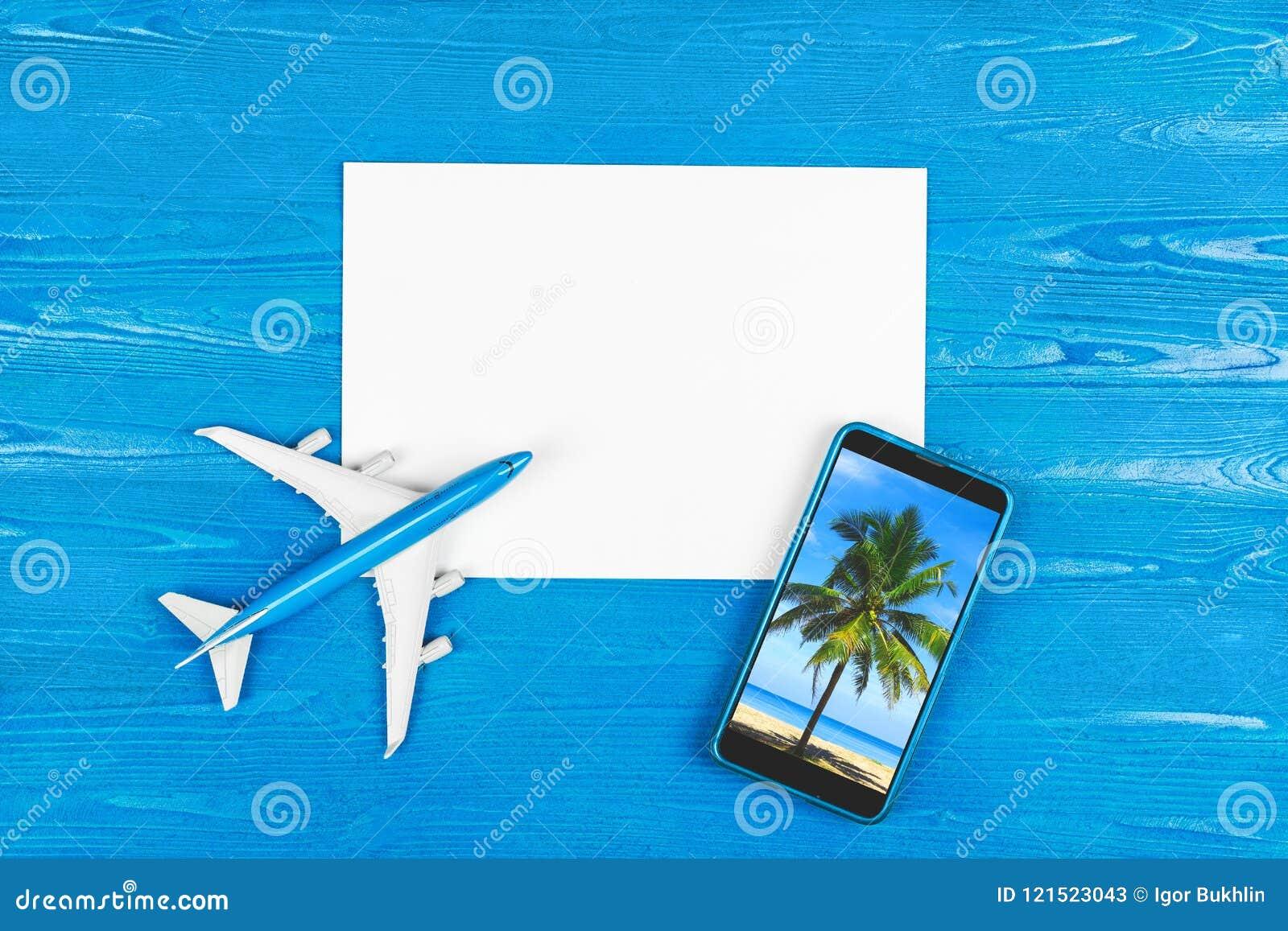 Handyspeicher Flugticketkauf Reisekonzept Reise durch Plane Moderne Technologie, Anwendungen für Smartphones