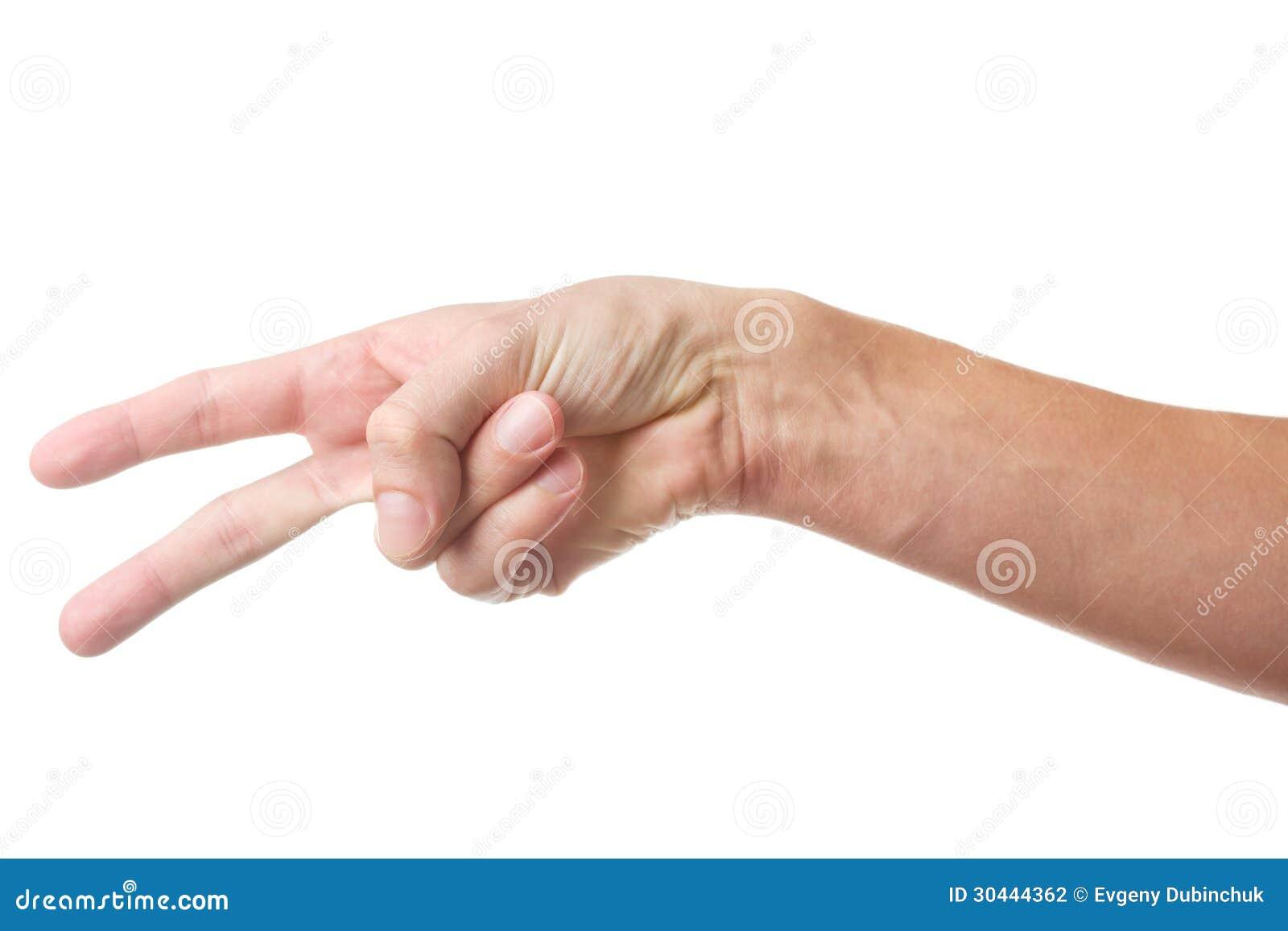 handzeichen mit zwei fingern stockfotografie bild 30444362. Black Bedroom Furniture Sets. Home Design Ideas