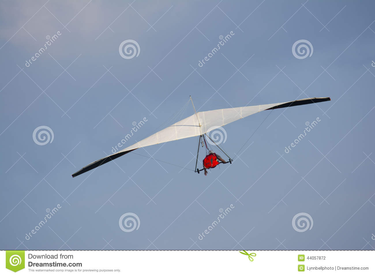 Hang Glider White Wings stock photo  Image of coast, contemplating