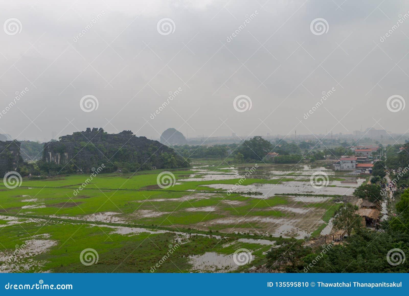 Hang Mua Temple Ninh Binh-Provincie, Ha Noi Vietnam Dec 2018