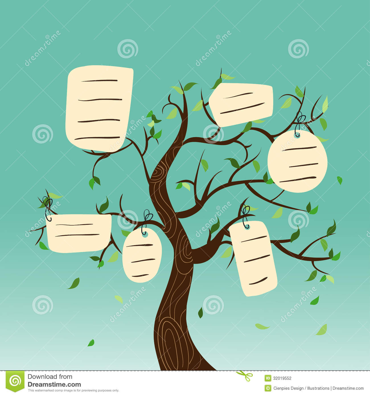 Hang Tag Family Tree Stock Photography