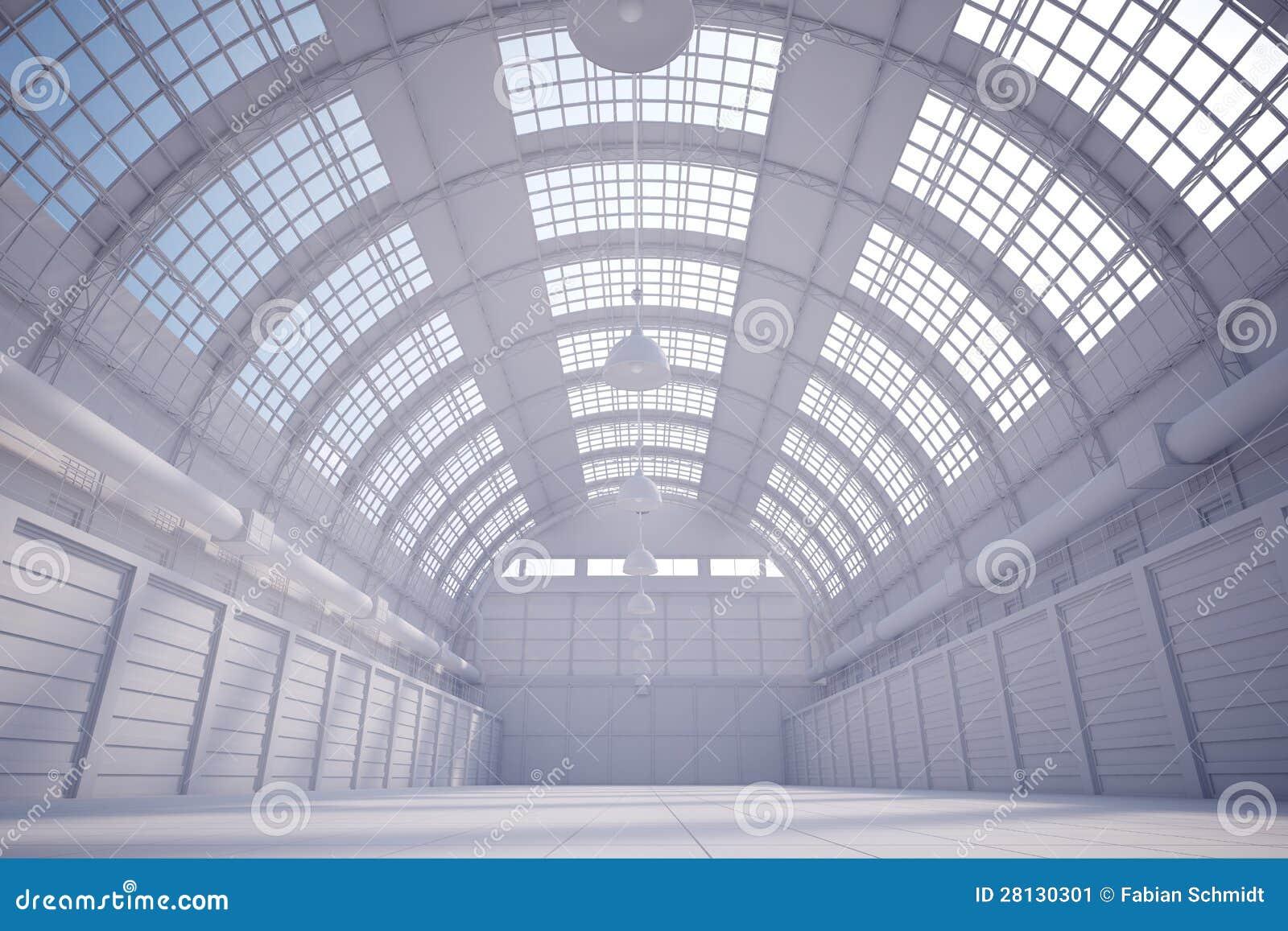 Hangar blanco