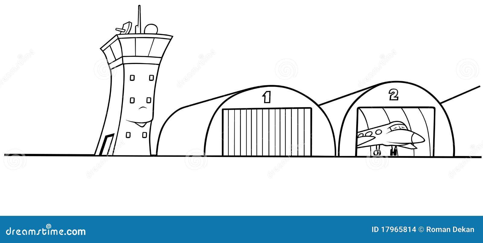 Hangar Do Aeroporto Ilustra 231 227 O Do Vetor Ilustra 231 227 O De