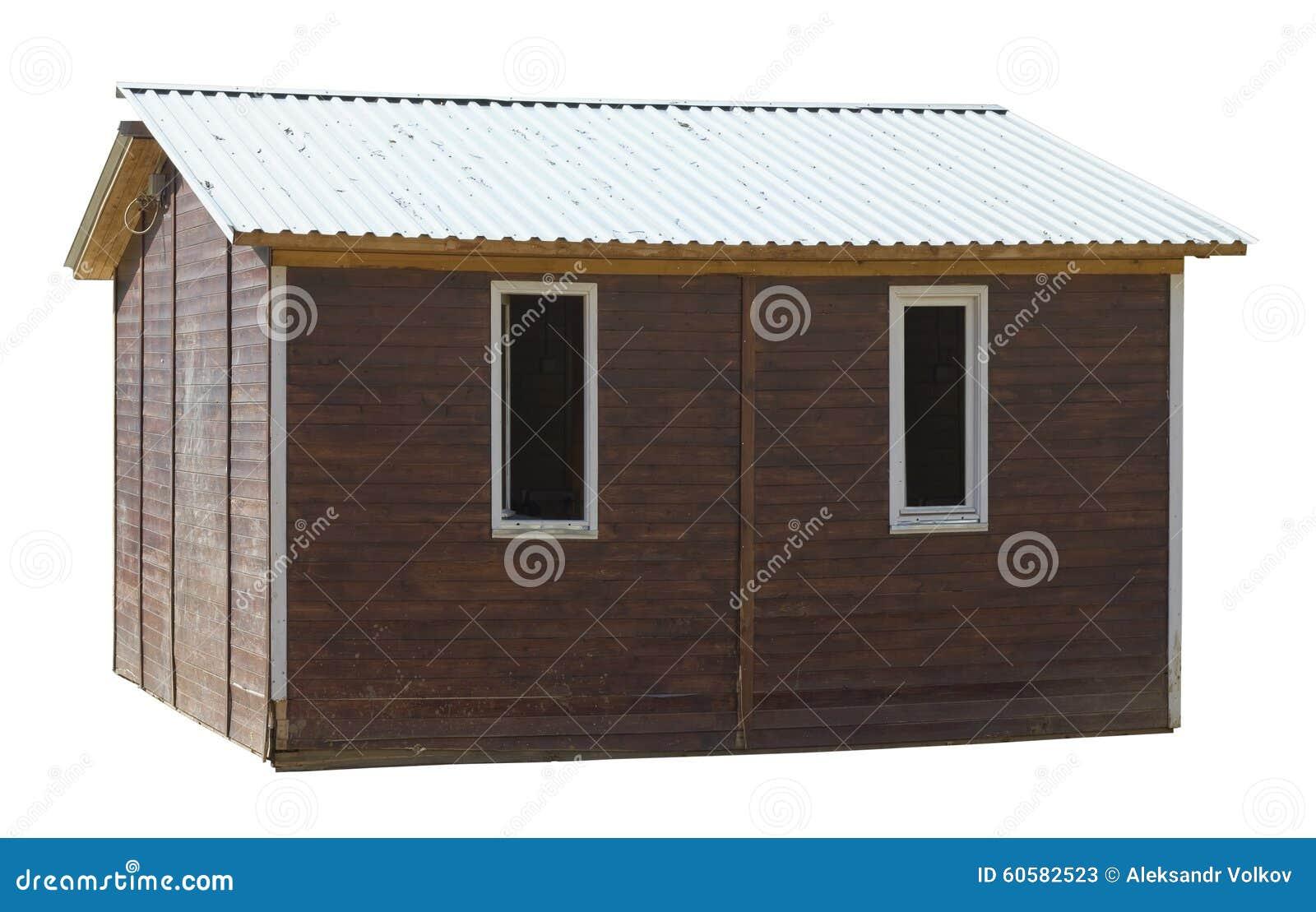 hangar en bois de village de style rustique moderne image stock image du architecture maison. Black Bedroom Furniture Sets. Home Design Ideas