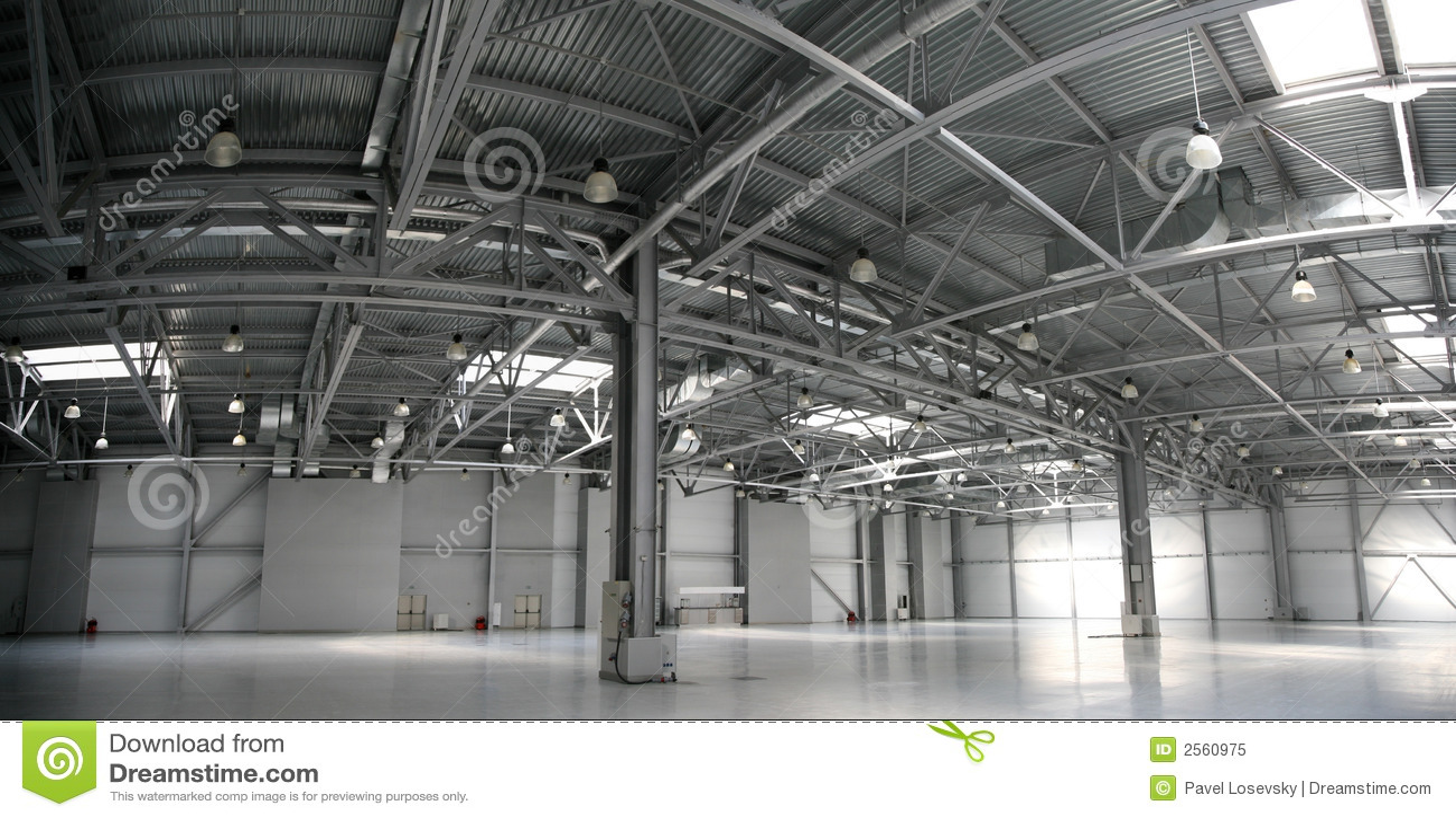 Hangar Warehouse Panorama Royalty Free Stock Photo Image