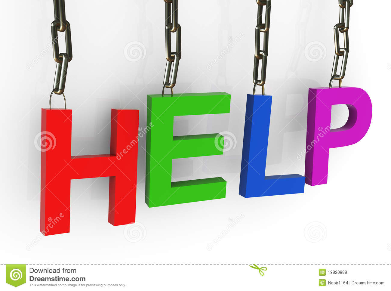 Hanged Colorful 'help' Text Royalty Free Stock Photos - Image ...