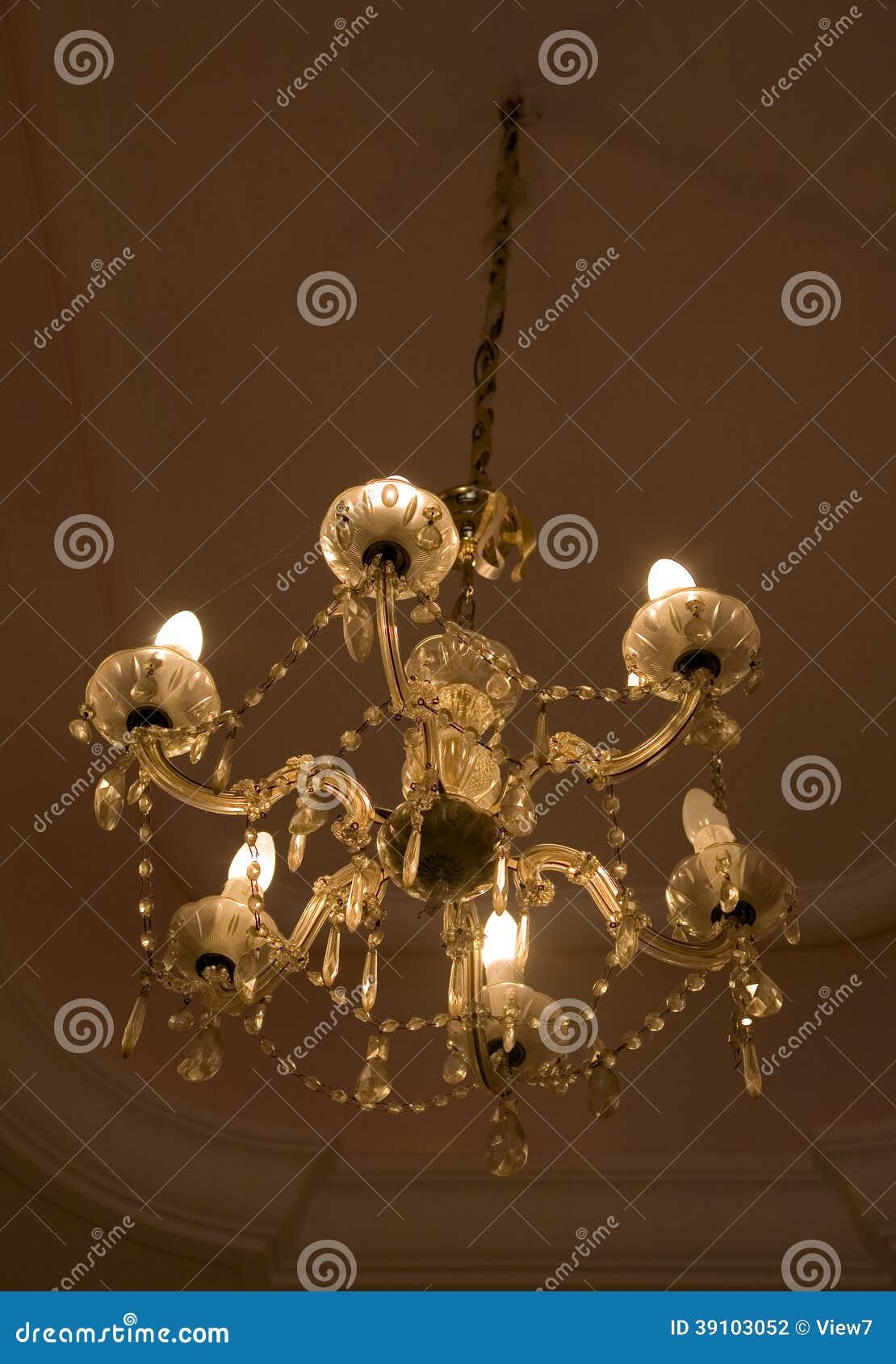 Hangende kristal Barokke kroonluchter