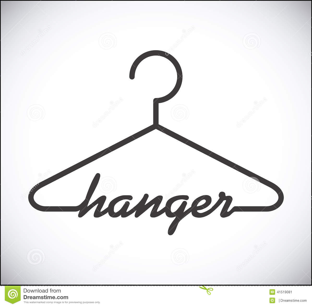 Hanger design over white background, vector illustration.