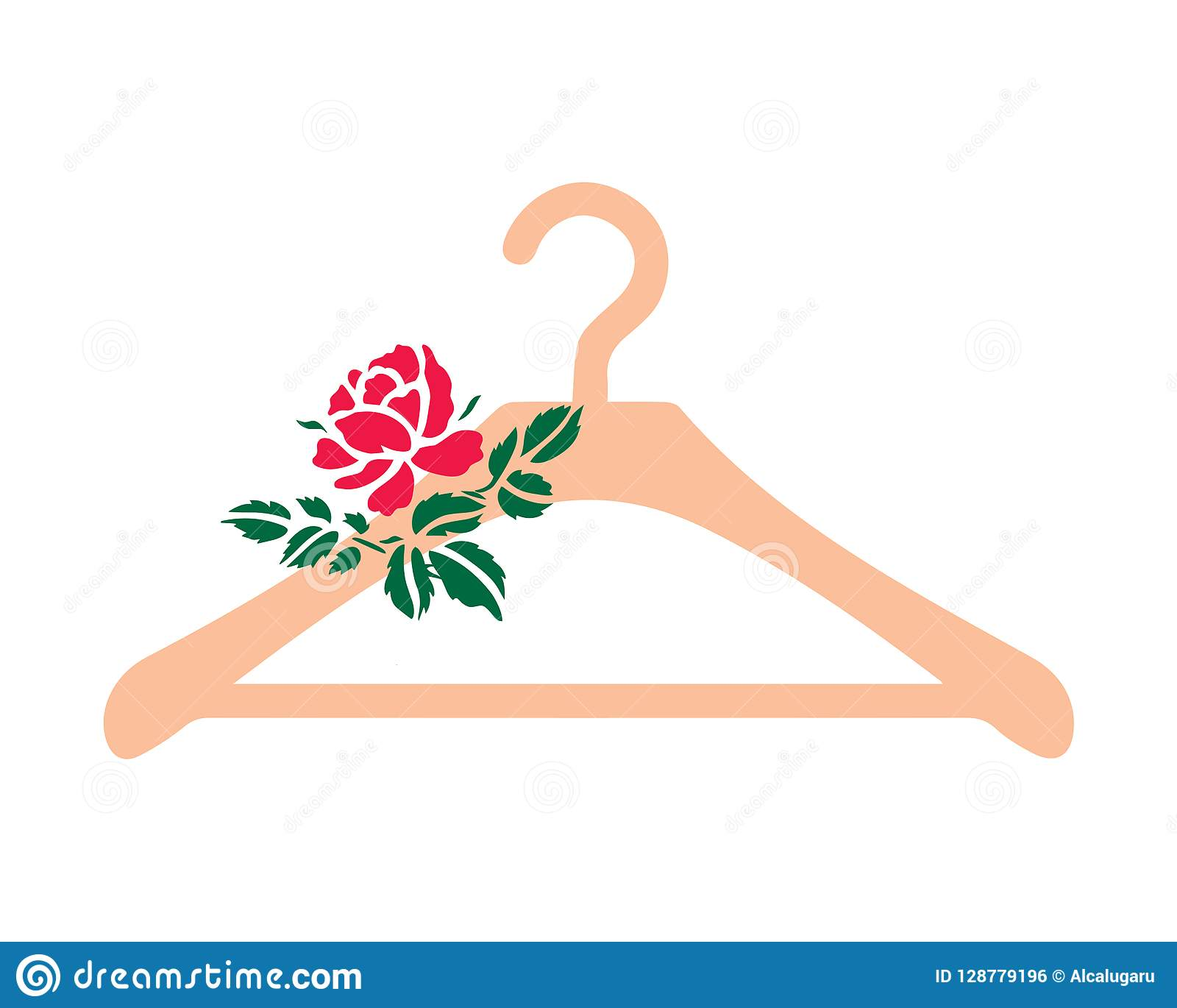Hanger Icon With Flowers Stock Vector . Illustration Of