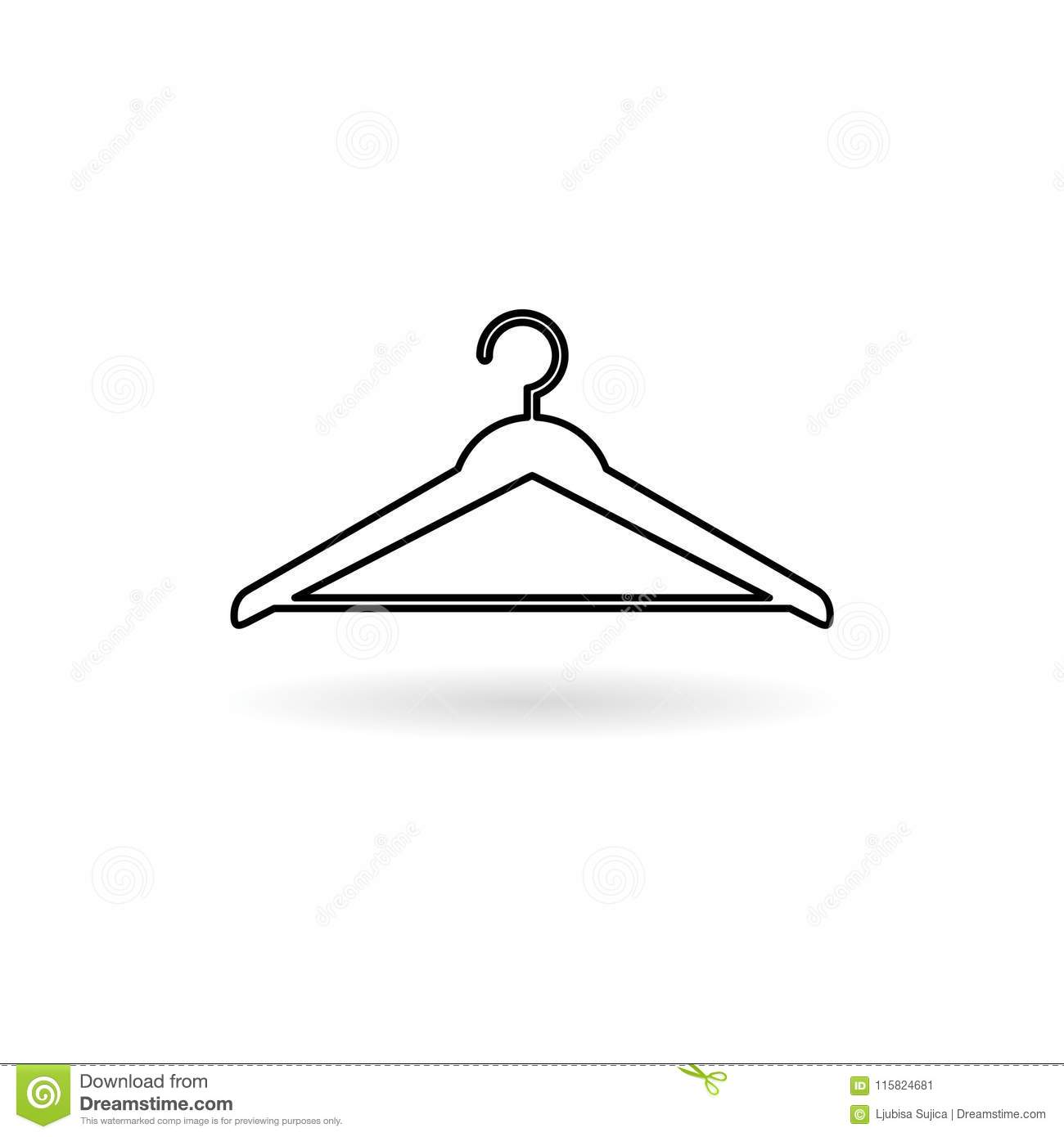 Hanger Sign Icon Cloakroom Symbol Stock Vector Illustration Of