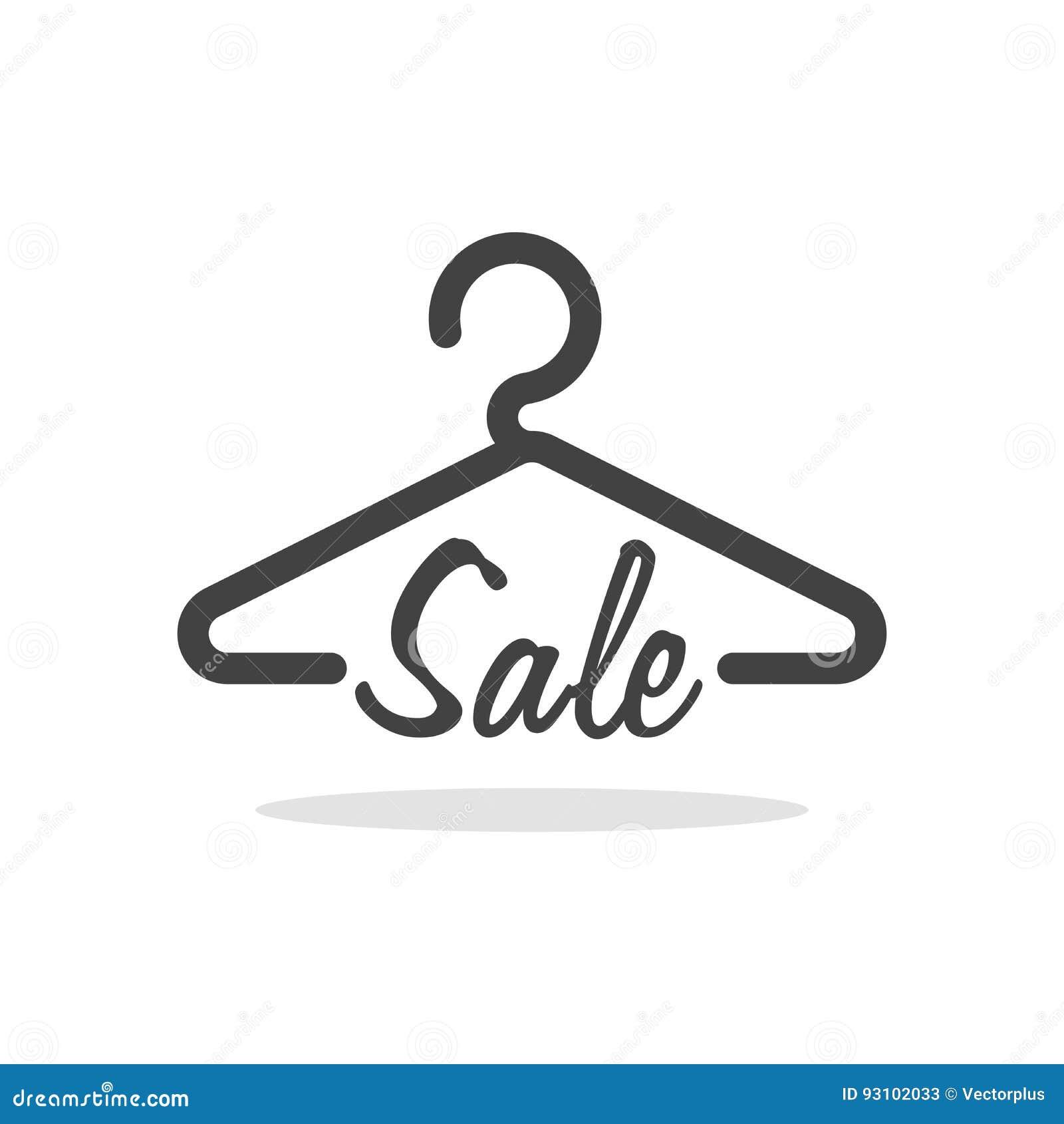 Hanger Symbol With Sale Letter Clothes Shoping Concept Illustration