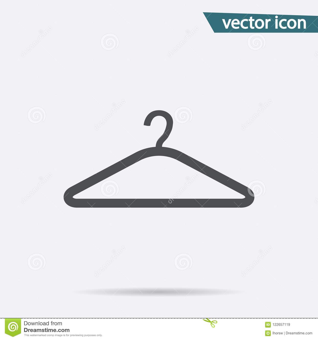 Hanger Vector Icon Flat Symbol Isolated On White Background Trendy