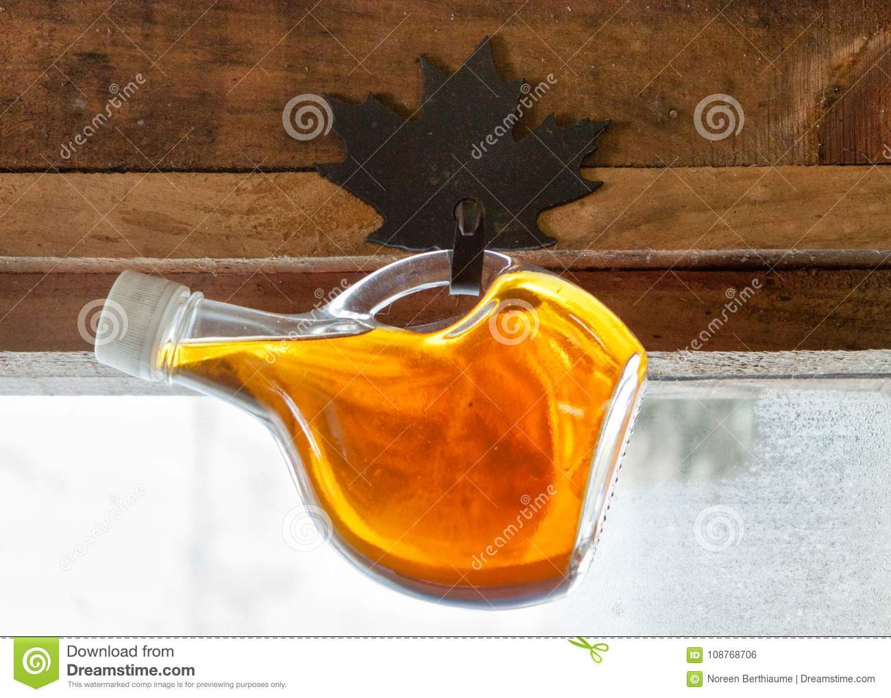 Hanging Bottle of Maple Syrup