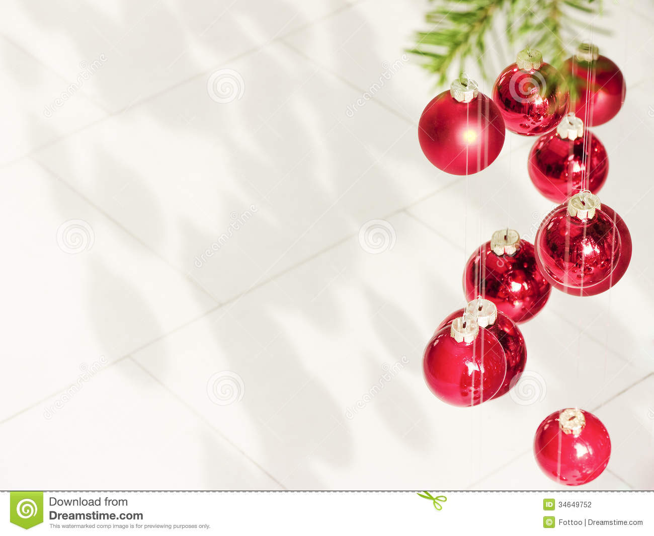 Hanging Christmas Baubles Stock Photography Image 34649752
