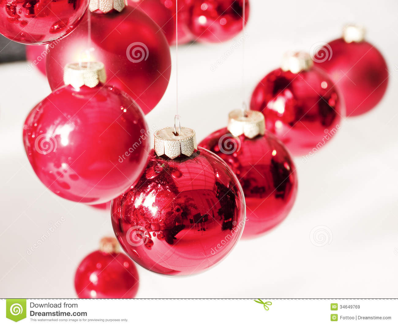 Hanging christmas baubles royalty free stock images for Outside christmas baubles