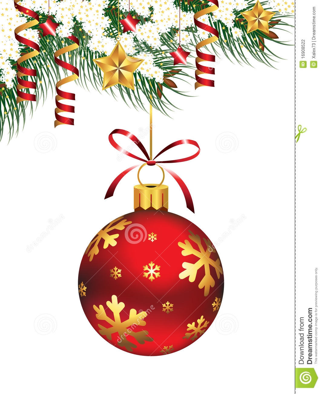 Hanging christmas ornament stock photography image 16908522 - Hanging christmas ornaments ...