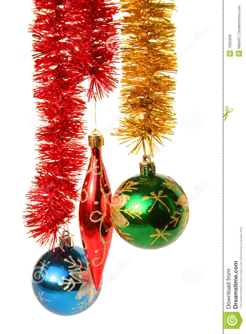 Hanging christmas ornaments stock image image 7065309 - Hanging christmas ornaments ...