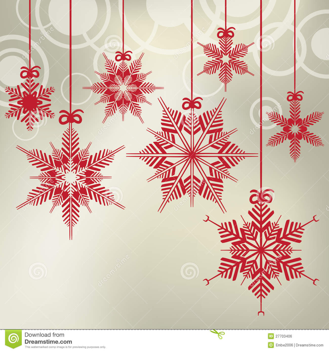 hanging christmas snowflakes royalty free stock image