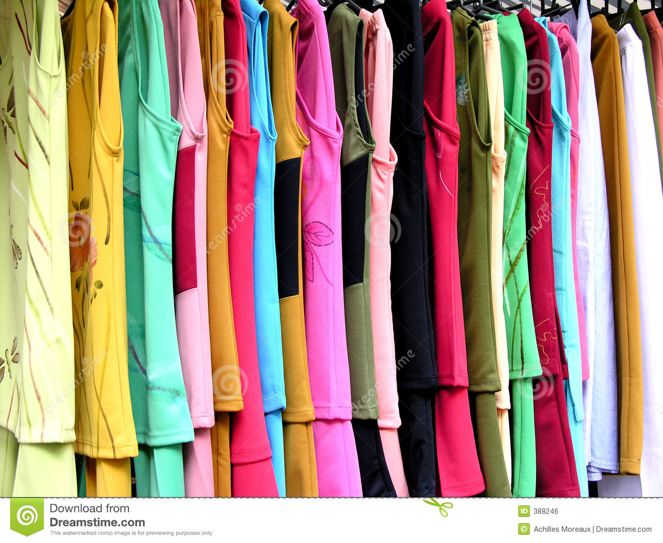 Hanging Clothes Royalty Free Stock Image - Image: 388246