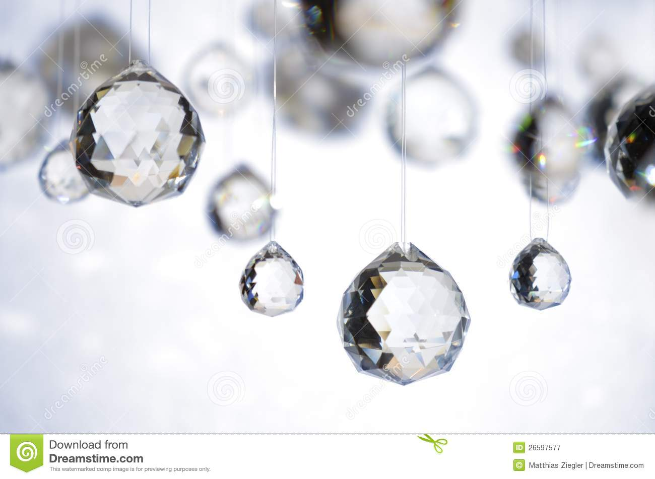 Hanging Crystal Balls Royalty Free Stock Photography